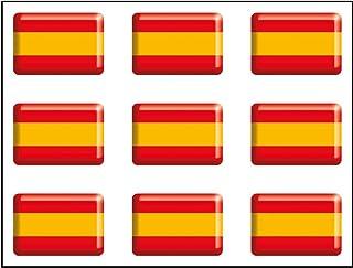 Artimagen Pegatina Bandera Rectángulo 9 uds. España Resina 16x11 mm/ud.