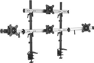 HFTEK 4 Fach Monitorarm   Tischhalterung für 4 Bildschirme von 15 – 27 Zoll mit VESA 75 / 100 (MP234C N)