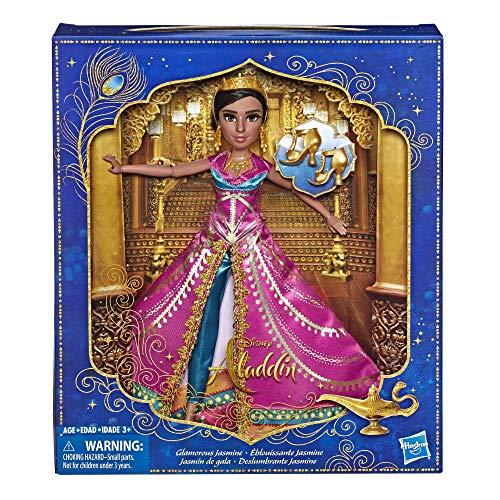 Disney Aladdin Zauberhafte Jasmin Deluxe Modepuppe mit Kleid, Schuhen und Accessoires, inspiriert von Disneys Realverfilmung, Spielzeug für Kinder und Sammler