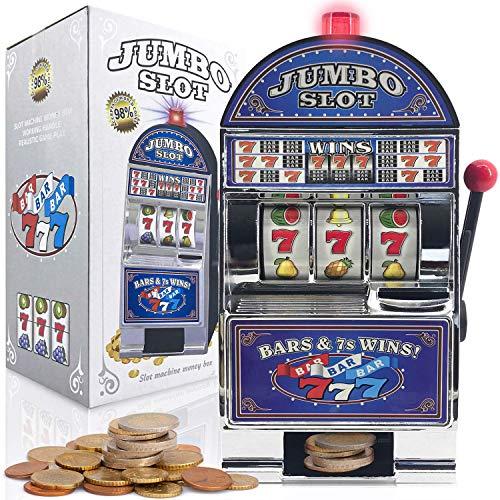 GOODS+GADGETS Einarmiger Bandit - Geldspiel-Automat Slot Machine Glücksspiel-Automat mit Casino Sound & Lichteffekten (Einarmiger Bandit)