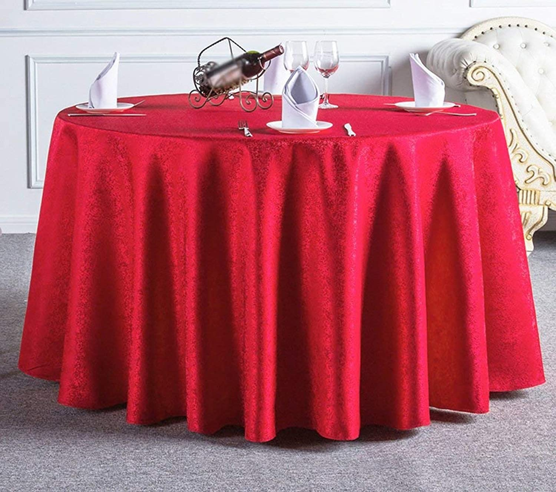 ZHPPRODUCT Mantel Decorativo rojoondo Mantel Cuadrado Tamao Completo Mantel Café Mantel Simple Antifouling Moderno Hotel De Casa - Rectangular rojoondo - Rojo (Tamao   Diameter 260cm)