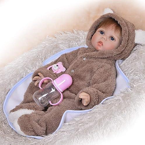 LIDE 22 Zoll 55 cm Neugeborenes Baby Doll Junge offene Augen lebensecht Toddler Spielzeug Kinder Geburtstag Geschenke Reborn Babys Puppe Weißhe Silikon Vinyl Magnetismus