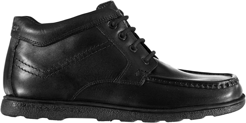 Kangol Waltham Mid Moc shoes Mens Black Lace Up Formal Footwear