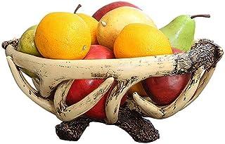 WZHZJ Plateau européen Fruit, créatif Résine Fruit Dessert Plate Bonbons Décoration Fruit Basket