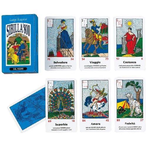 Dal Negro 040013 Gioco di Carte Sibilla '800, di L. Scapini, Multicolore