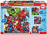 Educa - Marvel Super Heroe Adventures Conjunto de Puzzles Progresivos, Multicolor (18647)