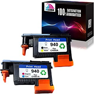 Jalada 2 Pack HP940XL 940 Printhead for HP Officejet Pro 8000 8500 Hp 940 Print Head C4900A C4901A for HP Officejet Pro 8000 8500 8500A 8500A Plus 8500A
