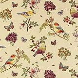 Gobelin Babyvogel creme — Meterware ab 0,5m — zum Nähen von Kissen/Tagesdecken, Decken & Tischdekoration