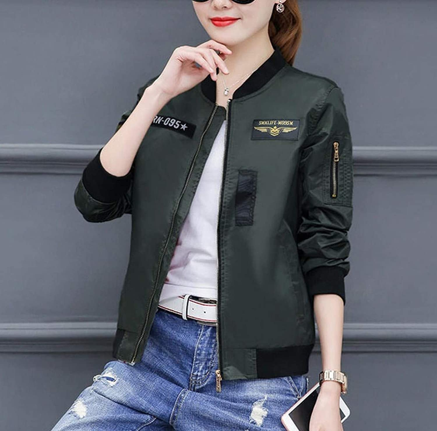 Spring Autumn Women's Jacket Baseball Jacket Warm Jacket DEED