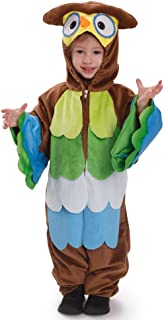 Kids Toddlers Hoo Hoo Owl Pretend Play Costume Outfit for Children