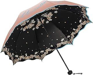 TH26 Windproof Travel Mini Umbrella Folding Umbrella Compact UV Umbrella with Double Canopy Ventilation (Color : Apricot)