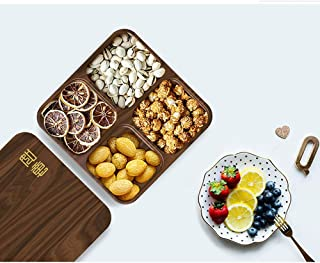 Home dried fruit box storage tray wedding candy box wedding supplies sugar box with lid dry fruit plate products exquisite...