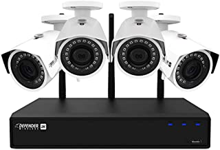 Defender 2K (4MP) Wireless 4 Channel 1TB NVR Security System with Remote Viewing and 4 Wide Angle Wi-Fi Cameras