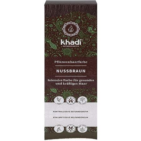 Khadi - Tinte de plantas (100 g), avellana natural, marrón oscuro