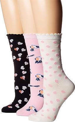 Toss Hearts 3-Pack Trouser Socks