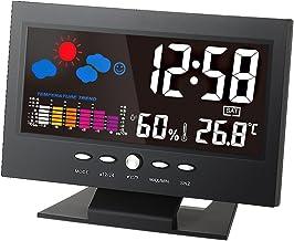 ° C / ° F Multifuncional interior colorido LCD Temperatura Digital medidor de umidade Estação Meteorológica Relógio Termôm...
