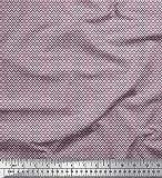 Soimoi Rosa Samt Stoff dot & geometrisch Hemdenstoff Stoff