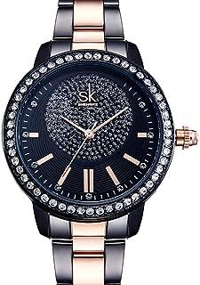 SK Women Watch Wrist Watches for Women, Stainless Steel Strap Watches, Japanese Quartz Wrist Watch, Ladies Business Watch
