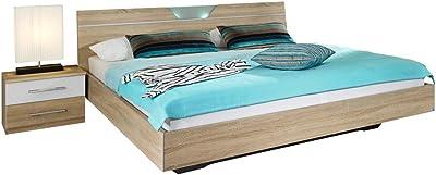 Moebella Polsterbett Bett mit Bettkasten 90x200 Weiß Betty