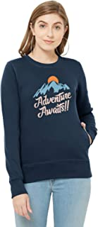 WYO Women's Full Sleeve Length Sweatshirt for Winter Wear with Graphic Print(Adventure Awaits Design)