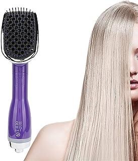 2 i 1 Varmborste, Professionell Utjämningsborste, Multifunktionell Hårtork Blow Comb Hair Straightening Styling Massage Ha...