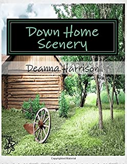 Down Home Scenery: Grayscale Adult Coloring Book