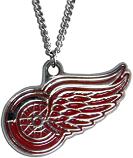 NHL Siskiyou Sports Fan Shop Detroit Red Wings Chain Necklace 22 inch Team Color