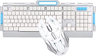 Wireless Keyboard and Mouse Combo,Compact Wireless Keyboard AND Ergonomic Full-Size Mouse,2.4GHz Ultra Thin Portable Small...
