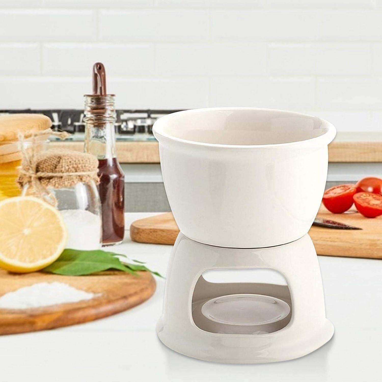 Hot Pot Set Cheese Porcelain Melting Pots Premium Tea Light Porcelain Melting Pot For Tapas Quickly Melts Cheese Or Chocolate QUUY Ceramic Chocolate Fondue Set