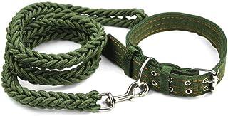 Beauenty Large Dog Collar With Collar For Leash Dog Rope Traction Belt Golden Dog Collar Dog Chain Traction Satsuma Tibeta...