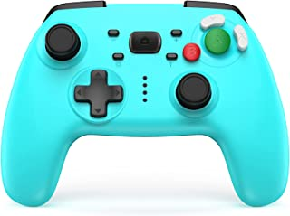 JAMSWALL Manette Switch, Bluetooth Manette Switch Pro, Switch Controller avec Batterie Rechargeable/Turbo/ 6-Axis Gyro/Dou...