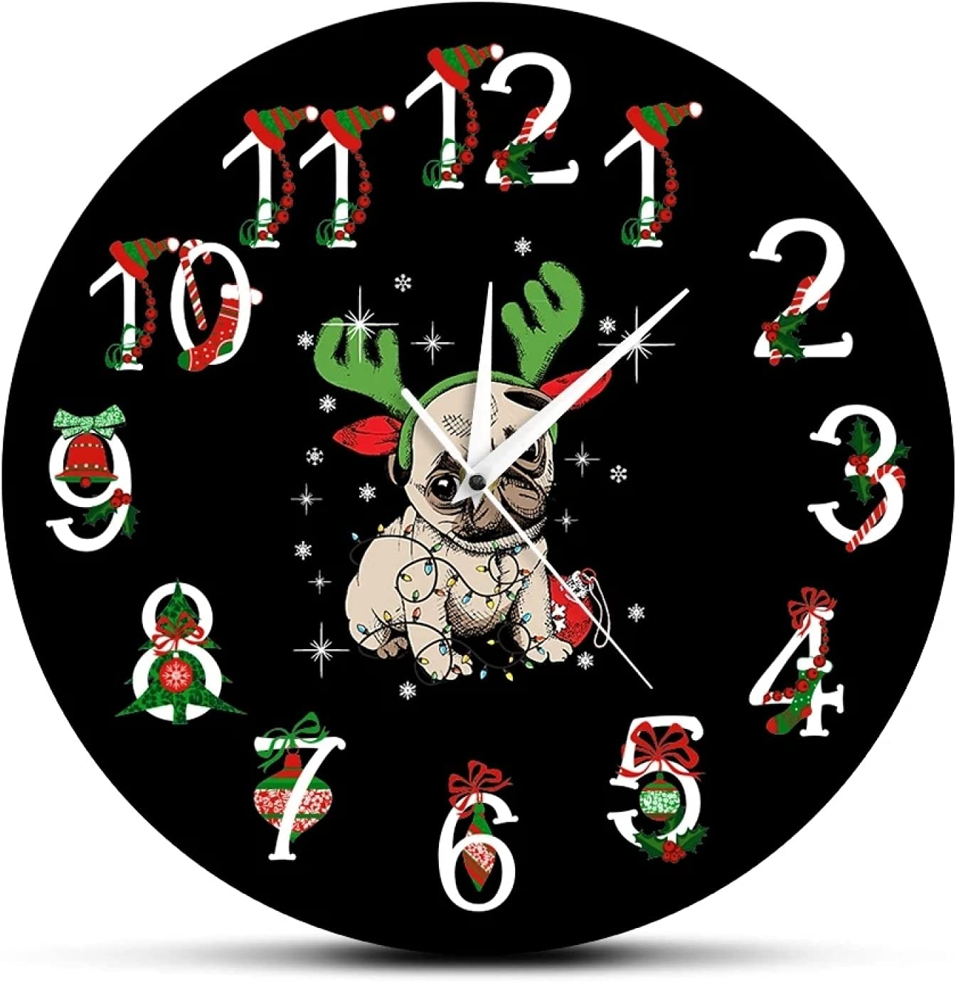 Xinxin Max 42% OFF Wall Clock Pug Funn wholesale Printed Christmas Ornament