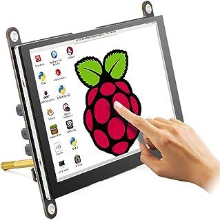 ELECROW モバイルモニター 5インチ Raspberry Pi 用 モバイルディスプレイ ポータブルモニター 800*480 HDMI端子 内蔵スピカー 冷却ファン付き Raspberry Pi 4B 3B+ Switch WiiU Xb...