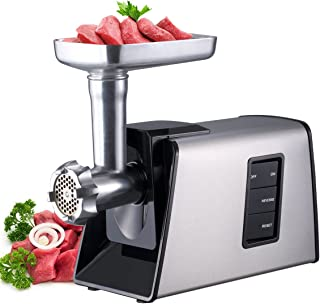 Sunmile SM-G73 Heavy Duty Electric Meat Grinder and Sausage Stuffer Maker 1000W Max with Stainless Steel Cutting Blade and 3 Cutting Plates and Sausage Stuff, ETL Certificated