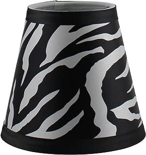 Urbanest Zebra Print Hardback Chandelier Lamp Shade, 3-inch by 5-inch by 4.5-inch, Clip-on