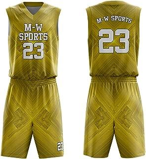 M-W Sports Latest Basketball Jersey Design Custom Basketball Uniform for Men 4 Colors