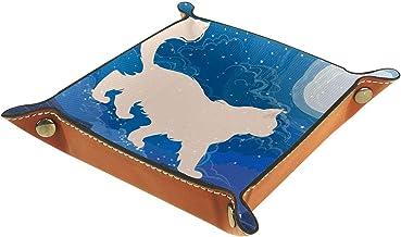 HOHOHAHA Taca na kości metalowa taca na kółkach uchwyt pudełko do przechowywania do gier stołowych RPG DND, dwustronna skł...