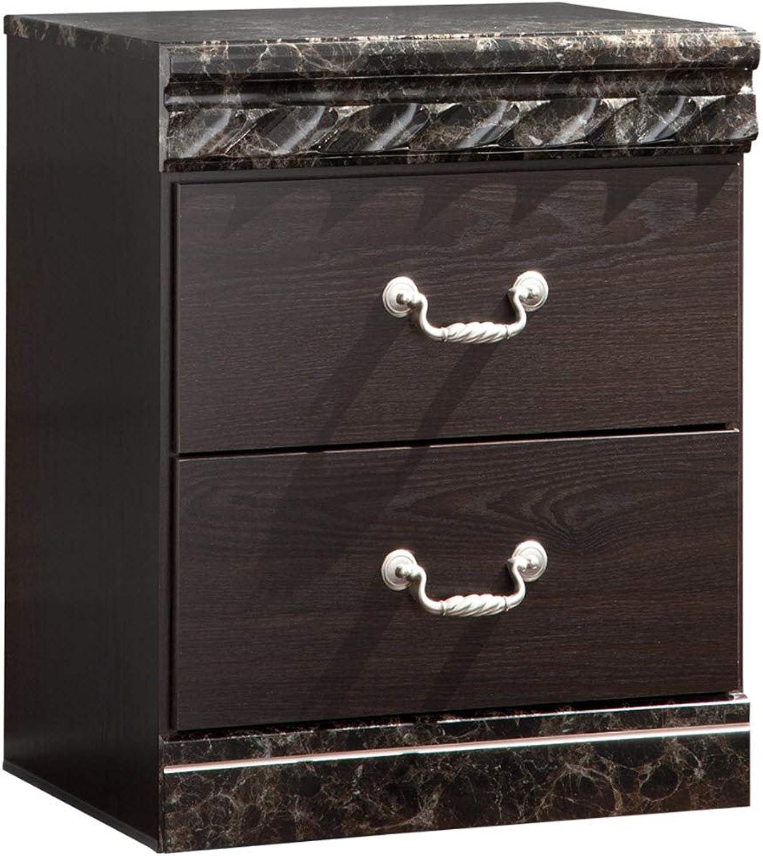 Signature Design by Ashley B264-92 Vachel Collection Nightstand, Dark Brown
