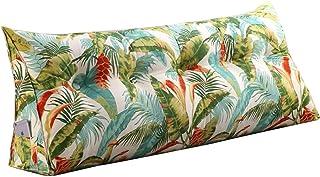 Almohadas de Soporte de posicionamiento para Leer en la Cama, Respaldo de cabecera Grande, cabecera de cuña (Color : Green, Size : 120cm)