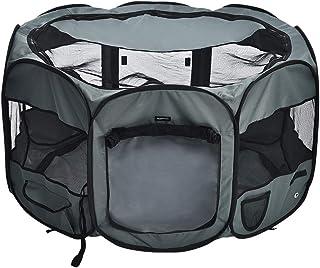 AmazonBasics - Corral para mascotas suave y transportable, 114 cm, Gris