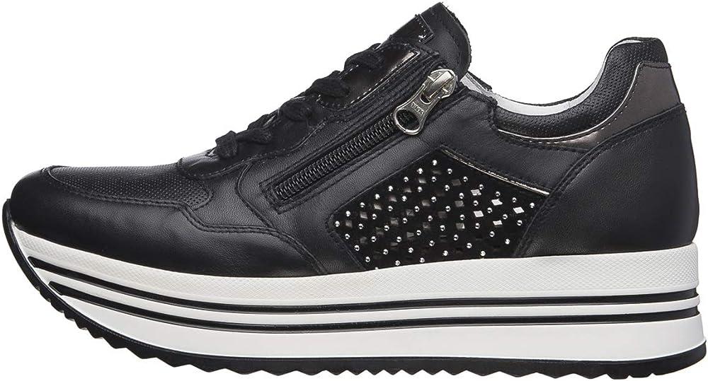 Nero giardini sneaker donna pelle/camoscio/tela E010563D