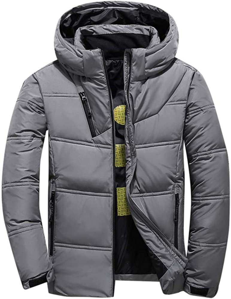 MODOQO Men's Hoodies Jacket Winter Thick Warm Fashion Outdoor Outwear Overcoat
