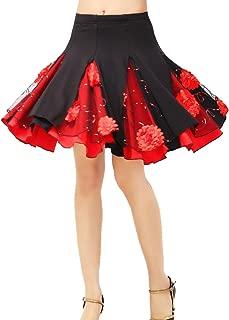 Cheerlife 10 Farben Damen Tanzrock Knielang mit Volant elastisch Rock