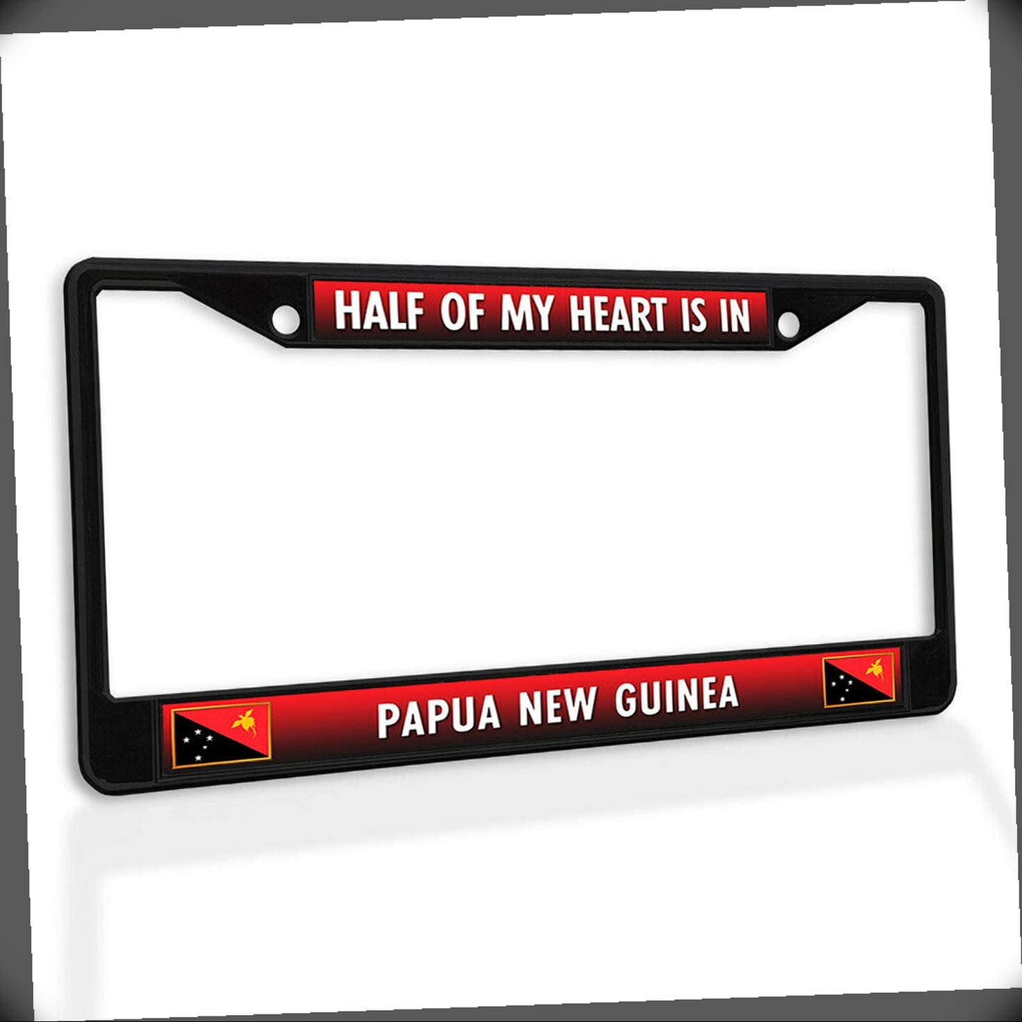New License Plate [Alternative dealer] Frame Half Inexpensive of Guinea is in My Heart Papua