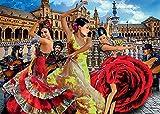 Diy 5d Kit De Pintura De Diamantes Por NúMero Captainalbatross Flamenco Bailarín Flamenco Español España Sevilla Cuadros Con Diamantes Bordado Punto De Cruz Kits 7.8'x11.8'(20x30cm) Sin Marco