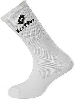 Lotto, Paquete de 3 Medias Hombre Calcetines de Tenis Calcetines de Deporte Negro Tenis Ne