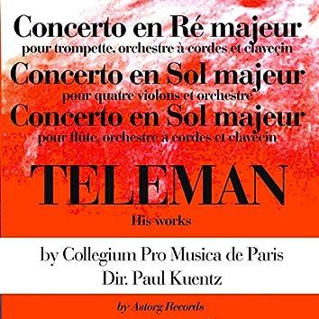Teleman's Works: Concertos en ré majeur et en sol majeur