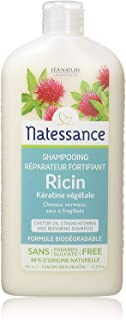 Natessance Castor Oil and Plant-derived Keratin Shampoo For Hair Strengthening and Repairing Shampoo (Parabens and Sulphat...