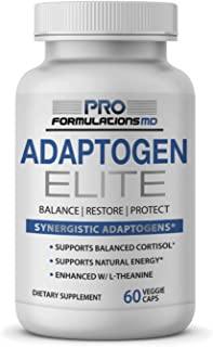 Adaptogen Elite – Synergistic Adaptogen Blend – 60 vcaps – Supports Balanced Cortisol & Natural Energy – Enhanced with Rho...