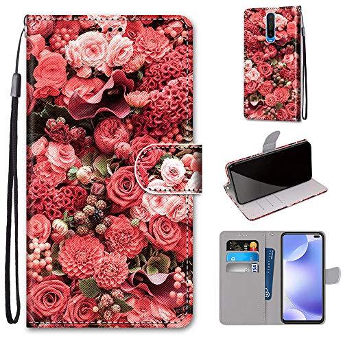 Xiaomi Pocophone X2 Hülle, SATURCASE Schön PU Lederhülle Magnetverschluss Brieftasche Kartenfächer Standfunktion Handschlaufe Handy Tasche Schutzhülle Handyhülle Hülle für Xiaomi Pocophone X2 (DK-14)